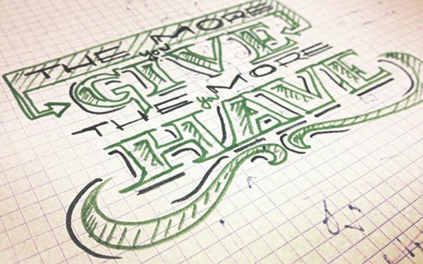 frases y logotipos a rotulador