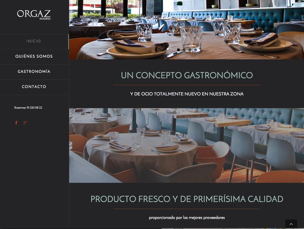 diseño pagina web menú lateral