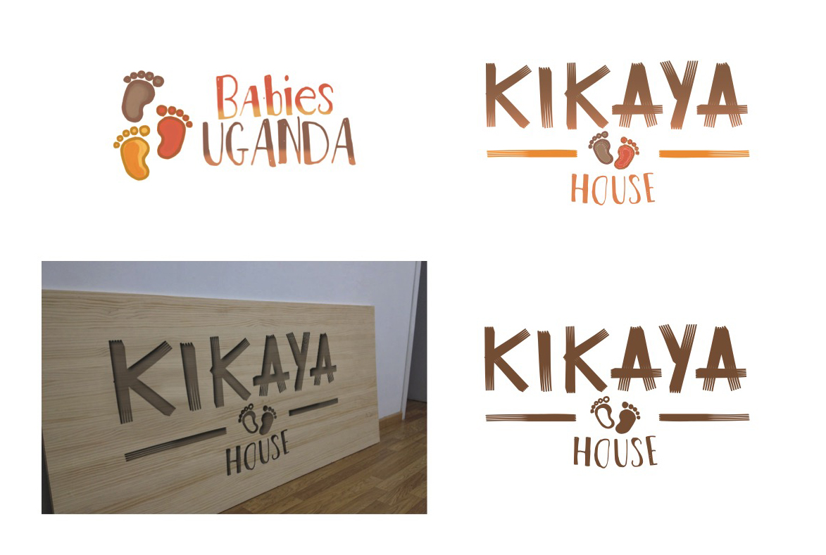 diseño logotipo babies uganda y kikaya house