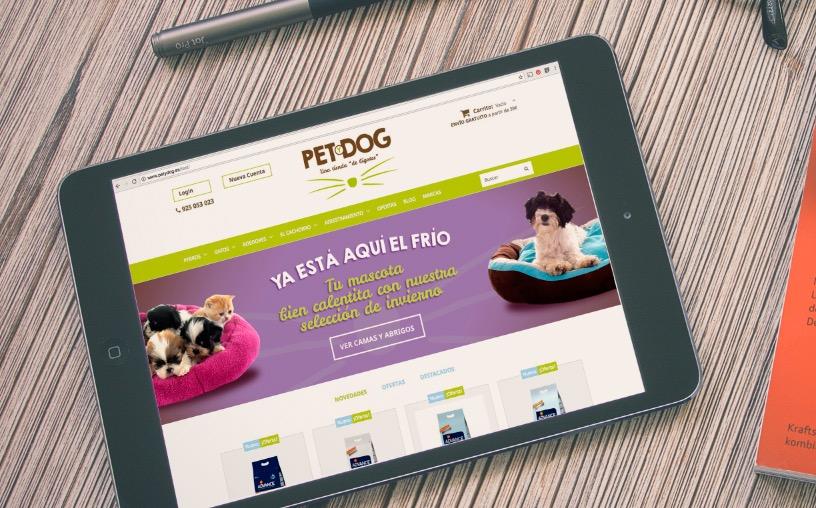 tienda online diseño sliders call to action