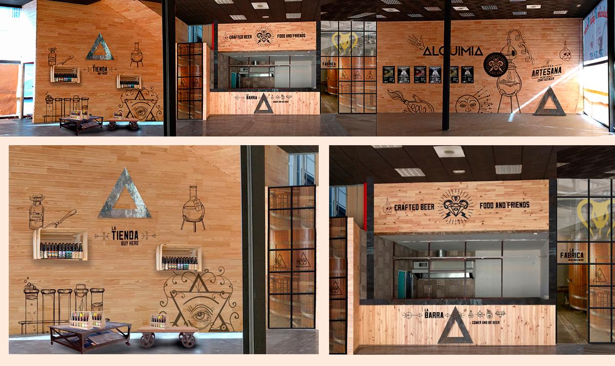diseño de la decoración interior panorámica