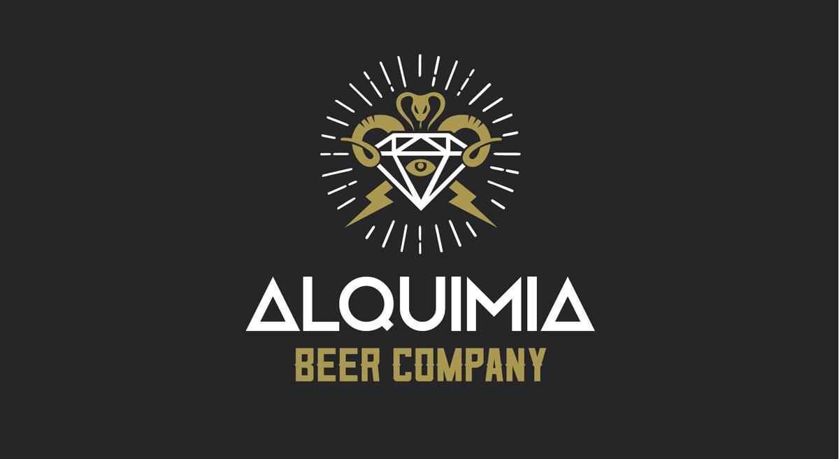diseño de logotipo alquimia beer company